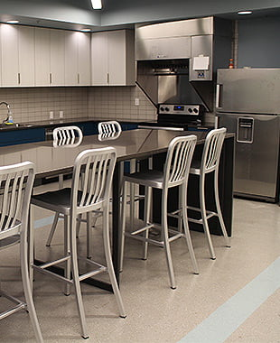 Kitchen in a dorm at Hastings College