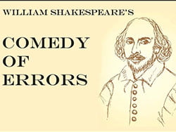 Comedy of Errors by Shakespeare graphic