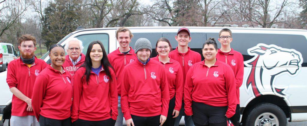 Photo of Hastings College student media team