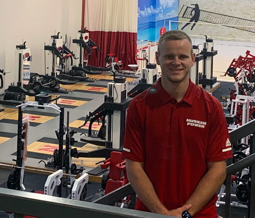 Alec Munro, a 2019 Hastings College graduate and current Hastings College Athletics Human Performance graduate assistant, built his understanding of the importance of creating bonds with student-athletes and discovered new aspects of the athletic training protocol during a summer internship with the University of Nebraska–Lincoln's Husker Power Strength and Conditioning program.