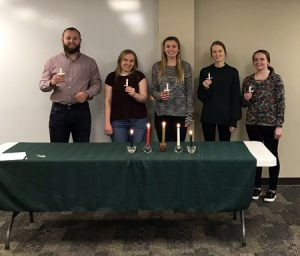 Picture of Alpha Chi inductees.