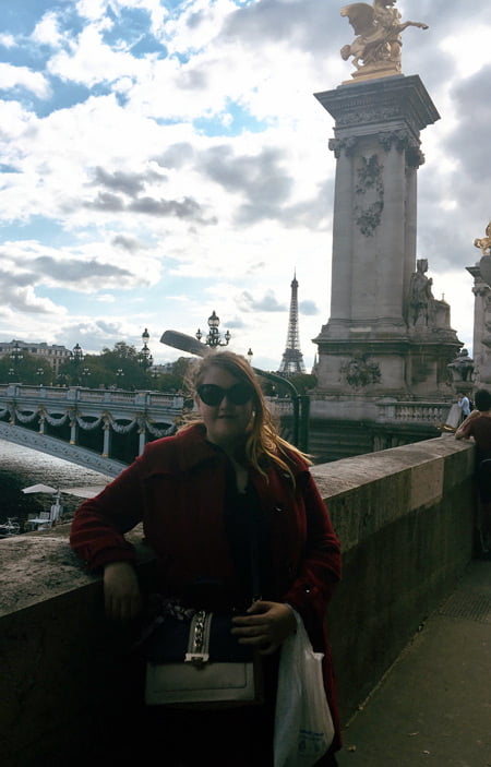Photo of Autum Teff in Paris, with Eiffel Tower in the back.