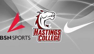BSN, Nike and Hastings College logos