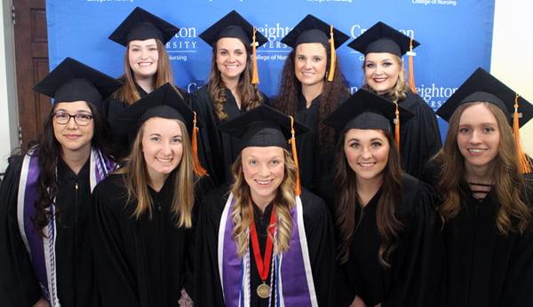 Nursing student gradutates