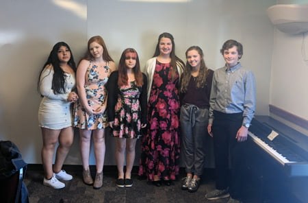 Picture of history day scholarship winners.