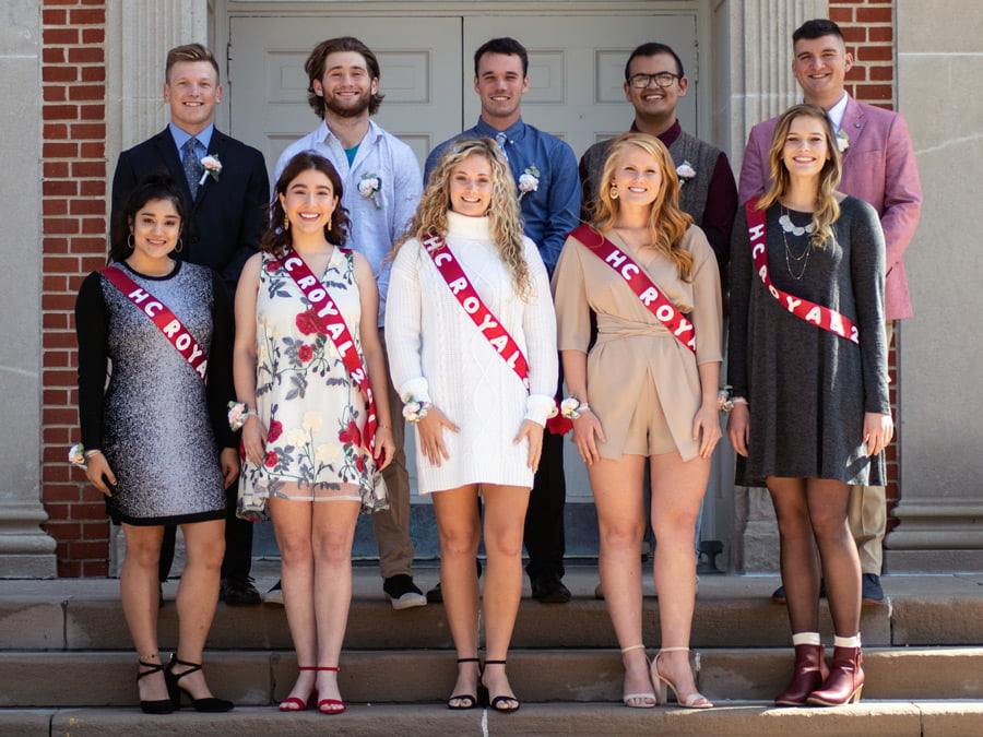 Photo of the homecoming court