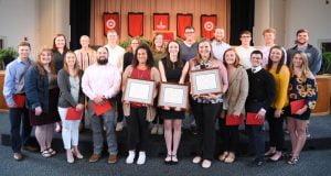 Photo of many students at award ceremony.