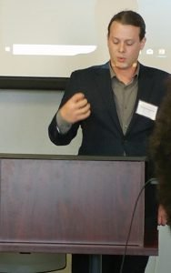 Photo of James Lapka giving a presentation.