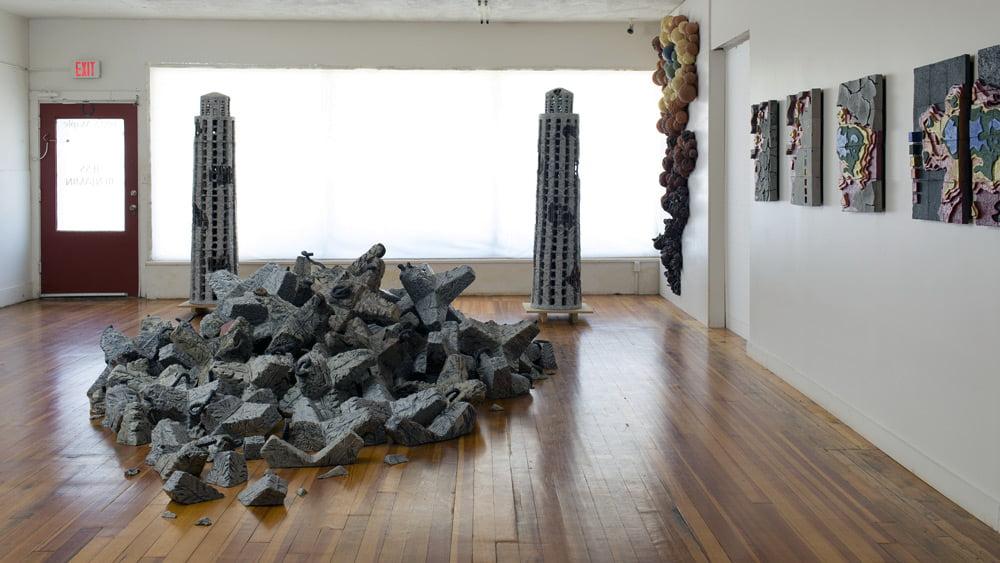 Photo of Jess Benjamin's art studio