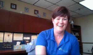 Marjorie Stewart-Hernandez '00 during a Hastings College alumni mentoring celebration Zoom call.