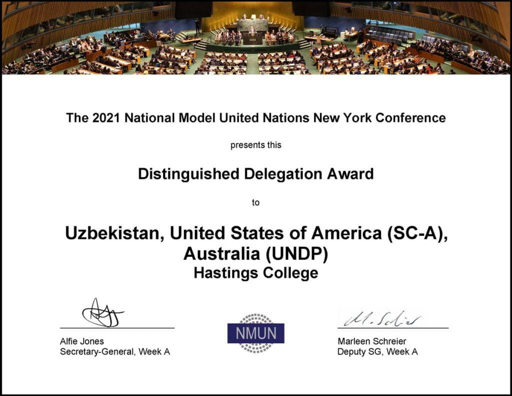Model UN 2021 a