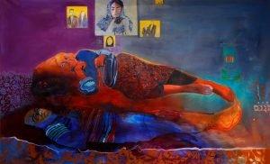 Shabnam Jannesari Hierarchy Oil on Canvas w