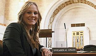 HC graduate Nicki Behmer works for the Nebraska Unicameral