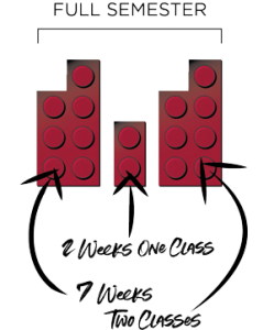 Depiction of the block schedule graphic