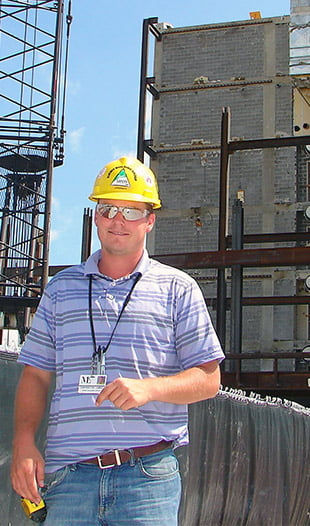 Hastings College Construction Management graduate James Davis