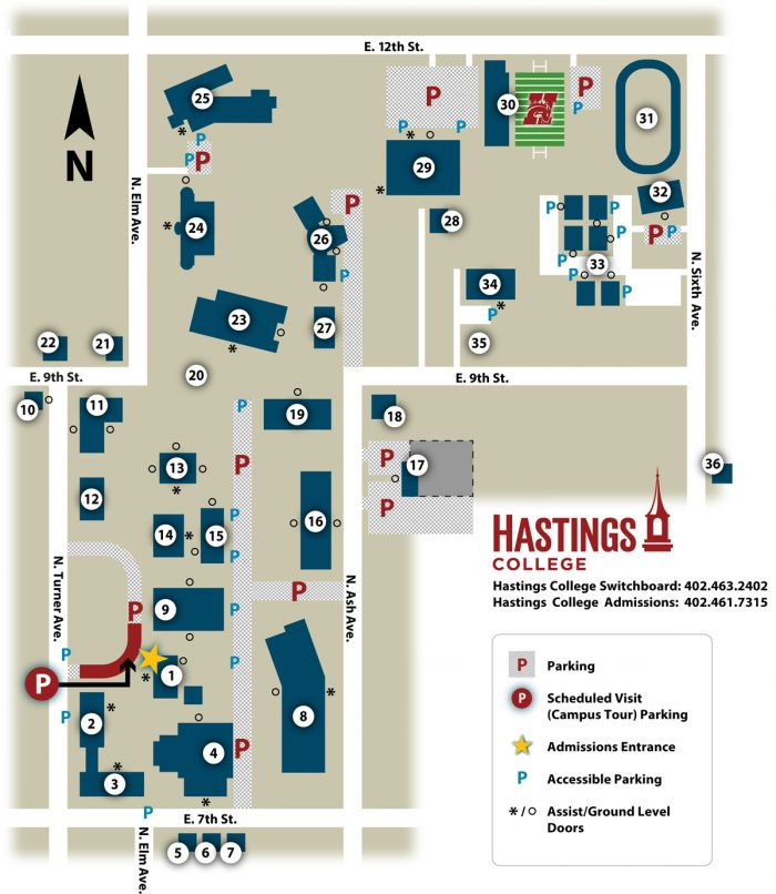 Image of a campus map