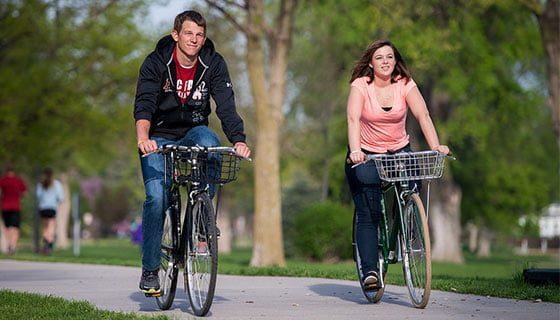 Students enjoying the Hastings bike path