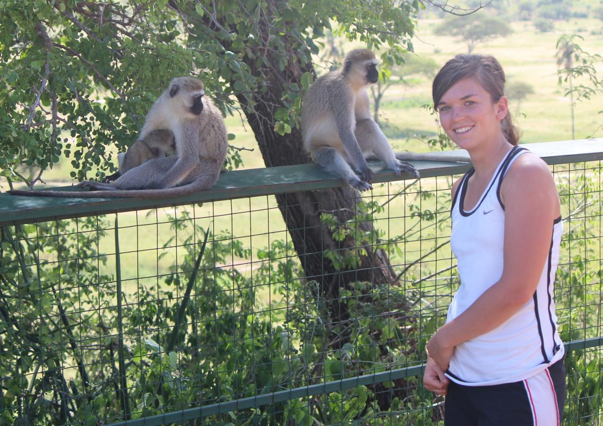 Emily Wright '14 traveled to Ghana as part of Hastings College's J-Term.