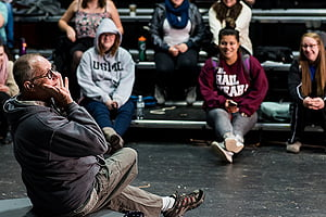 Photo of Fritzler teaching an acting class