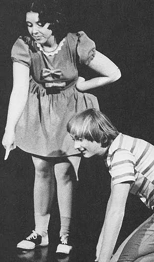 Photo of Jim Fritzler as Linus with Lucy, played by Cindy Shepard Jordan