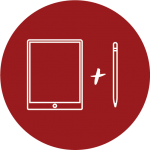 Icon of an iPad and Pencil