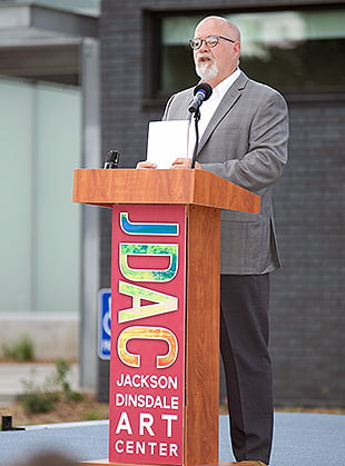 Photo of Tom Kreager, professor and chair of the Hastings College Art Department.